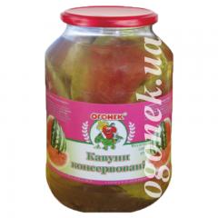 """Кавун консервований """"Огонек"""", 1,5 кг"""