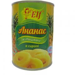 """Ананас кільцями в сиропі """"Elf"""", 580 г"""