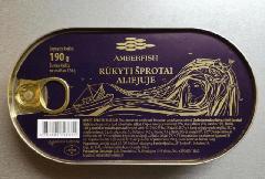 """Шпроти в олії ТМ """"Amberfish"""", 190г"""
